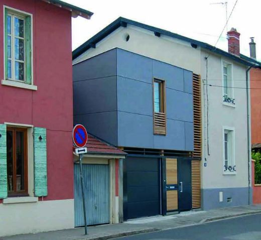 R novation et extension d une maison de ville for Renovation facade maison ancienne