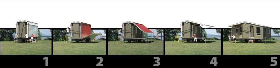 Une v ritable maison d pliable et transportable - Maison pliable ...