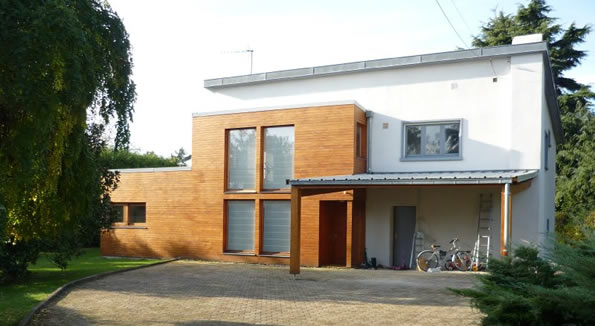 Extension bois d 39 une maison des ann es 60 for Recours architecte extension garage