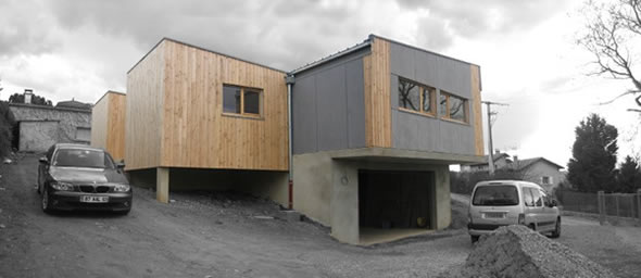 maison contemporaine ossature bois lyon. Black Bedroom Furniture Sets. Home Design Ideas