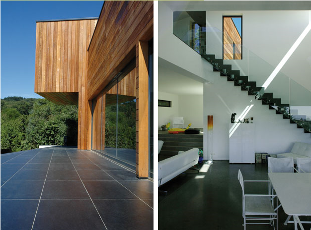 Maison bois contemporaine maison d 39 architecte maison en for Maison semi contemporaine