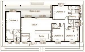 plan de maison en bois