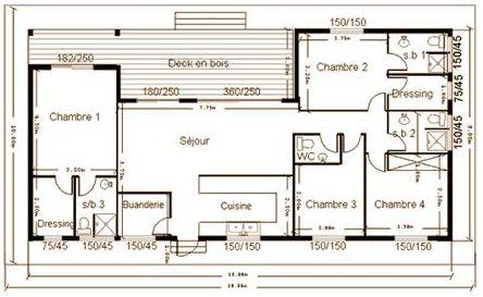 Biohome constructeur de maison ossature bois dpt 13 for Plan interieur maison en bois