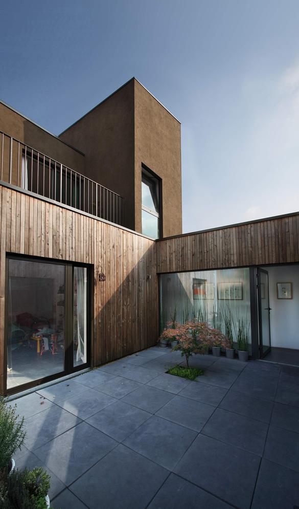 Maison de ville en bois dans le Nord Pas de Calais