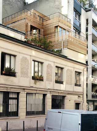 Sur l vation d 39 un immeuble paris architecteo sur l vation for Architecture contemporaine paris