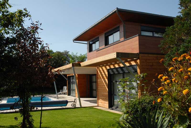 extension de maison ossature bois extension sur jardin avec toiture terrasse 5. Black Bedroom Furniture Sets. Home Design Ideas