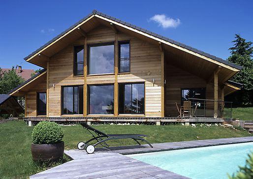 maison bois toit 2 pans savoie