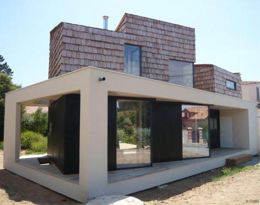 Maison cubique maison en cube d 39 architecte maison bois - Interieur maison cubique ...