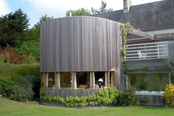 Extension bois d 39 une maison ancienne en pierre for Prix agrandissement bois