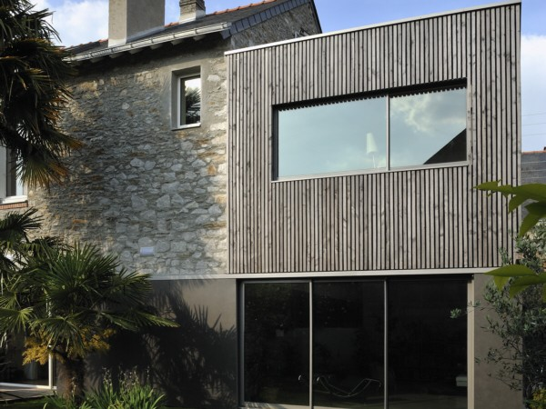 extension en bois d une maison pierre cubique pictures. Black Bedroom Furniture Sets. Home Design Ideas