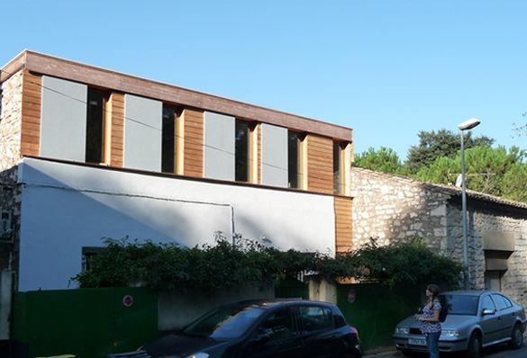 extension maison ancienne  extension bois  surelevation