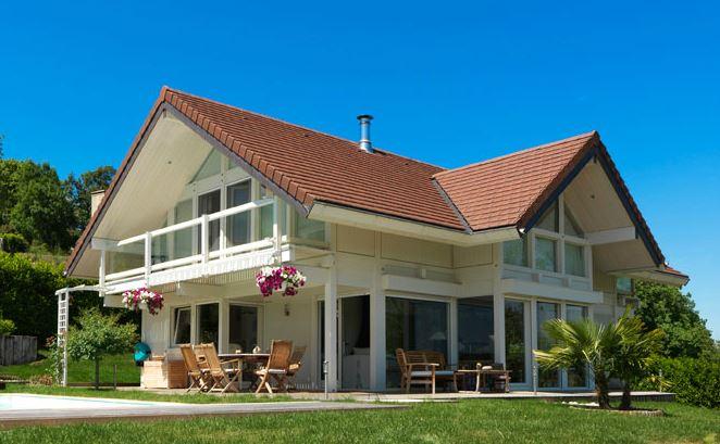 maison bois 2 toits