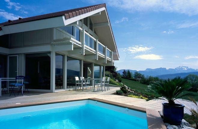 → Maison bois contemporaine - Annecy 74 - Maison avec grande ...