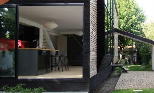 Maison en bois contemporaine - Maison avec baie vitrée à galandage 4
