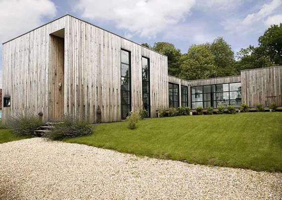 Maison contemporaine ossature bois maison coste - Maison moderne bois ...
