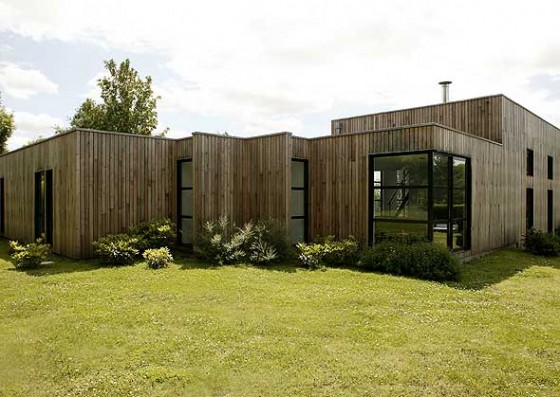 terrasse toit plat terrasse en bois. Black Bedroom Furniture Sets. Home Design Ideas