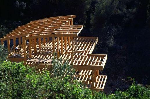 Maison Contemporaine En Bois  Maison Piloti  Double Terrasse Bois
