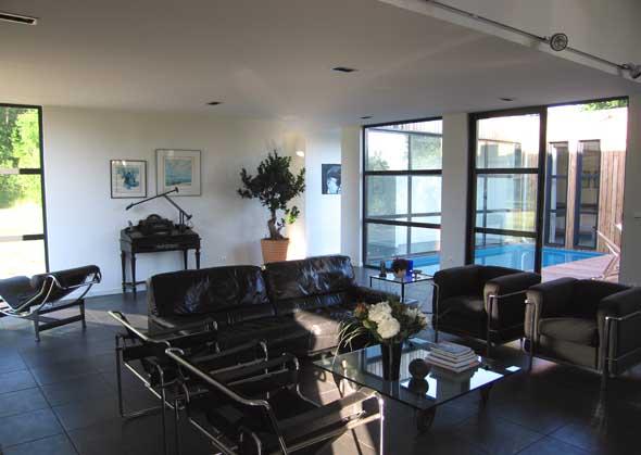 Maison contemporaine ossature bois maison coste for Plan interieur maison contemporaine