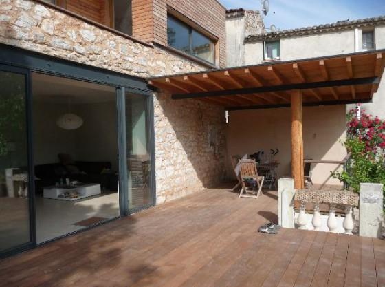 Extension maison ancienne extension bois surelevation - Baie vitree pour toiture ...