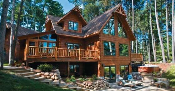 Maison en bois massif cmbm for Prix construction maison en pierre
