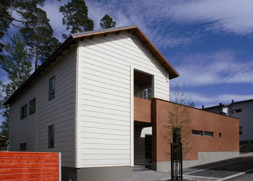 Une maison en u avec patio maison contemporaine en bois massif for Maison moderne en bois massif