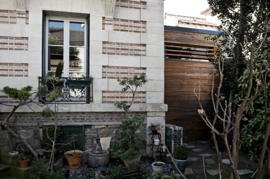extension bois vue du jardin