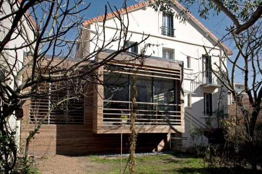 Extension bois extension maison bois extension toit for Maison bois toit plat