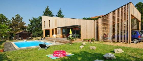 Construction d 39 une maison en bois et monomur 4 - Maison bois avec piscine ...