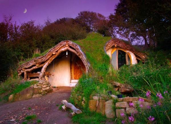 Maison Des Hobbits  Construction De La Maison Hobbit Bois Et