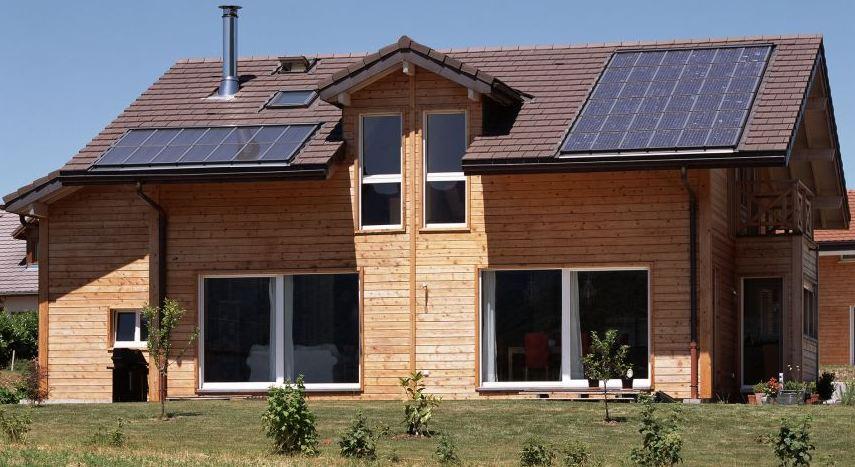 Maison Panneau Bois Amazing Le Panneau Ossature Bois Standard Est Un Mur Avec Une Paisseur  # Maison Panneau Bois