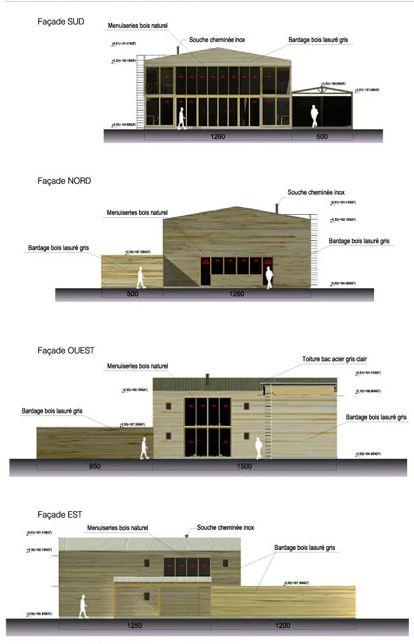 Maison en bois petit prix 1000 m2 maison bois for Plan facade maison