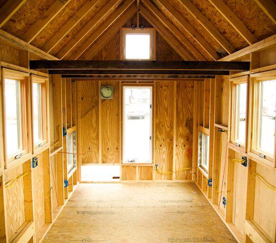 Maison bois roulante base de bois 100 r cup r - Isolation maison ossature bois ...