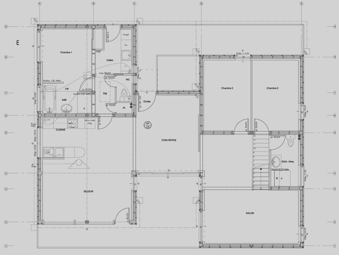 Maison contemporaine bois dans le finist re dpt 29 - Plan de maison architecte ...