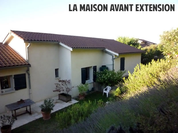 maison avant l'extension surélévation