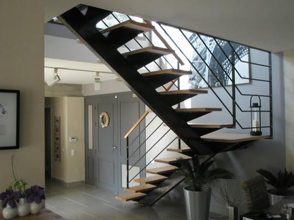 Escalier et puits de lumière