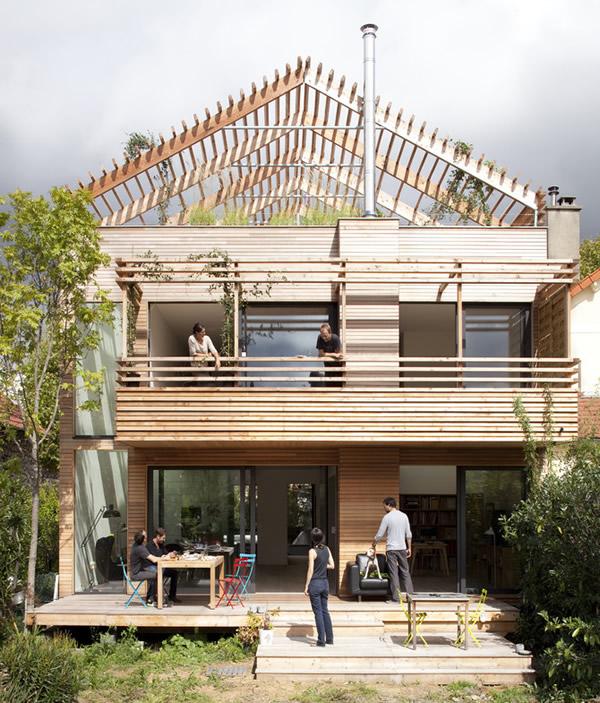 maison bois ville paris