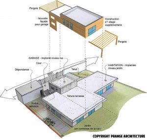 schema surelevation toiture