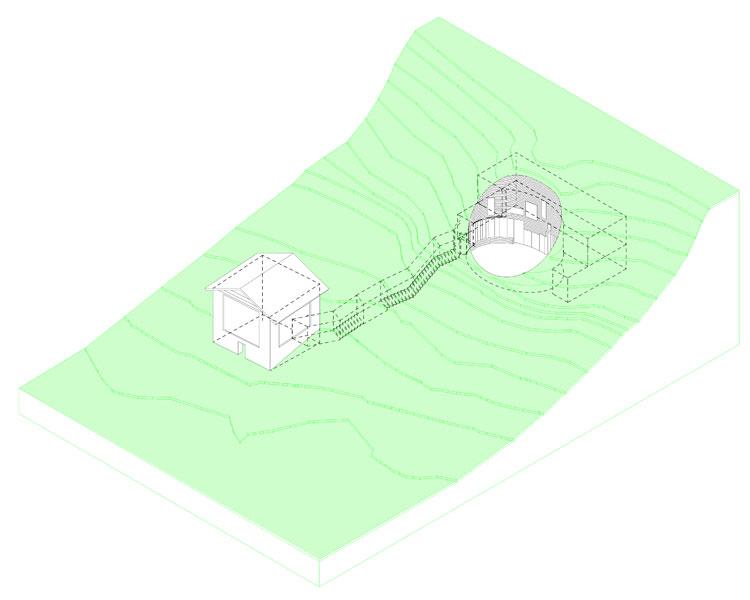 plan coupe maison troglodyte