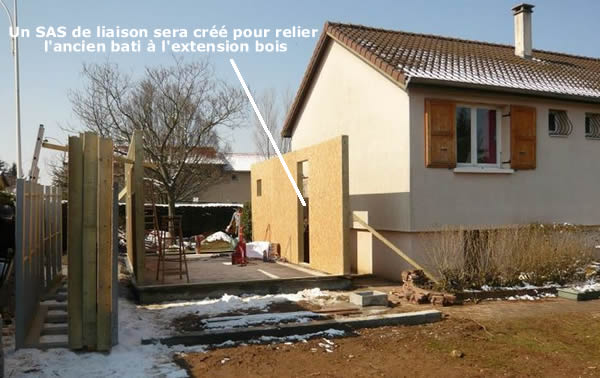 Extension bois guide complet photos prix au m 2018 for Prix extension maison ossature bois