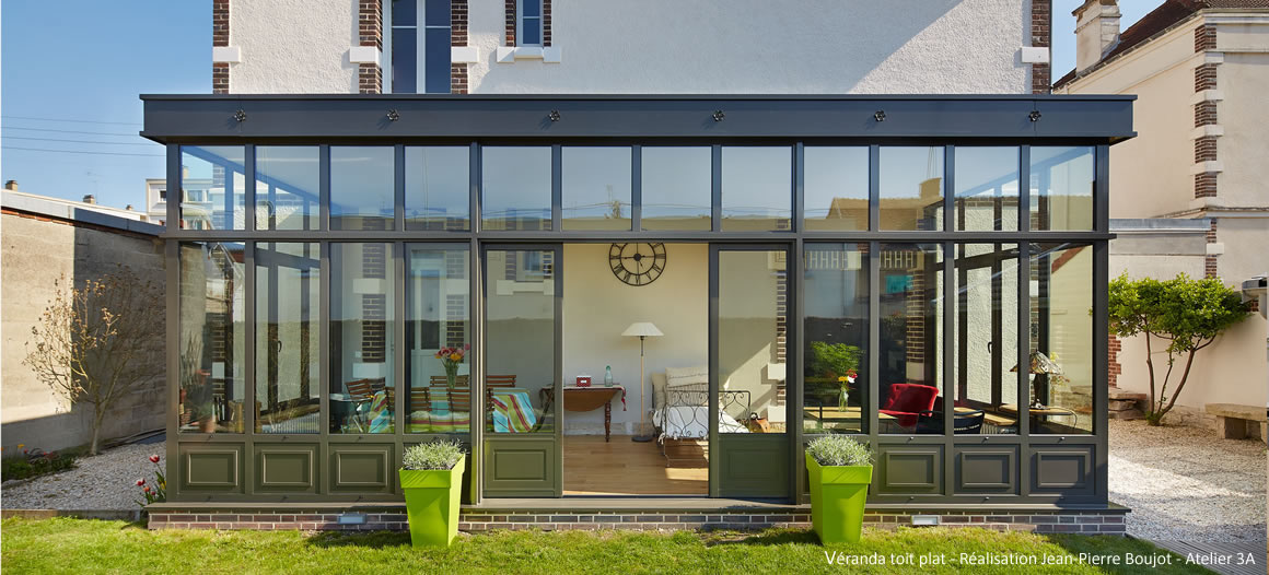 Architecteo construction extension et r novation maison - Agrandissement maison veranda ...