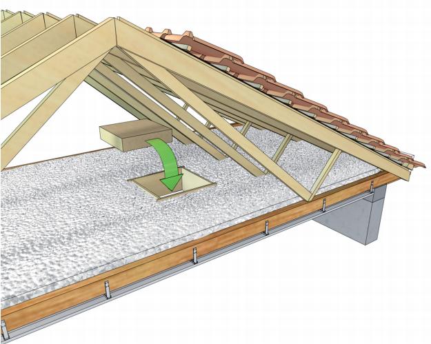Isolation combles perdus sur plancher ou plafond guide for Meilleur isolant combles perdus