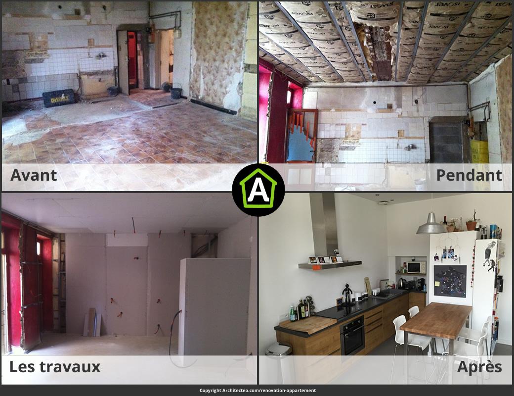 Maison avant aprs avant apres travaux cool with renovation maison avant apres travaux cuisine - Renovation cuisine avant apres ...