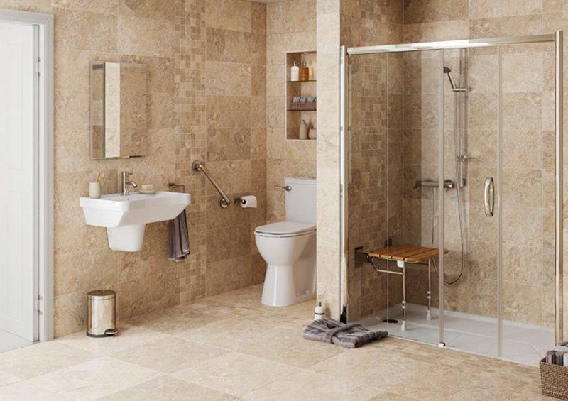 salle de bain : amenagement douche personne agee