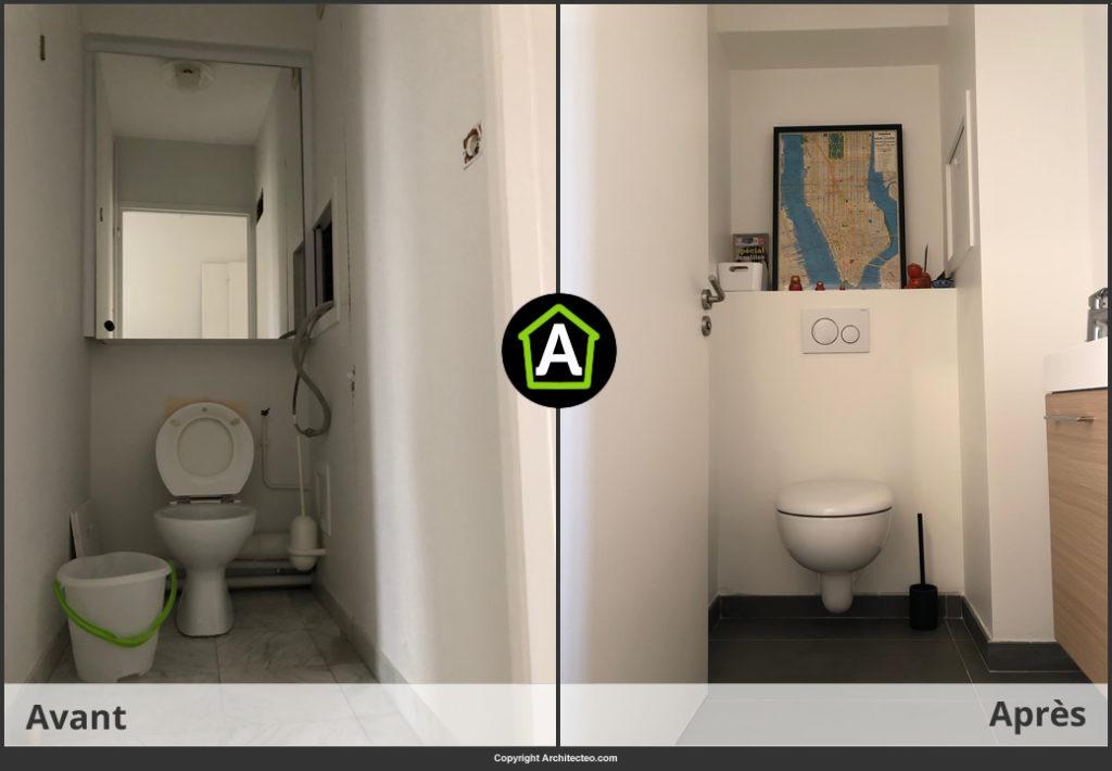 → Prix d\'un WC suspendu pose comprise - Prix des travaux